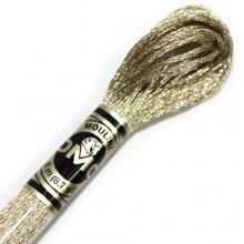 Металлизированная нить (Металлик)E677 DMC Light Effect PRECIOUS METALS (E677 White Gold) . Нитки для вышивания