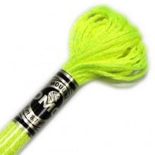 Металлизированная нить (Металлик)E980 DMC Light Effect FLUORESCENTS(E980 Neon Yellow) . Нитки для вышивания