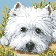ДМ-007 Взгляд щенка. Алмазная Мозаика. Наборы со стразами.
