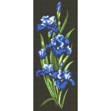 ДМ-325 Синие ирисы. Алмазная Мозаика. Наборы со стразами.