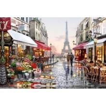 ДМ-328 Улочка Парижа. Алмазная Мозаика. Наборы со стразами.
