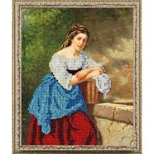 10119 Дівчина з кошиком. Краса i Творчiсть. Наборы для вышивания ювелирным бисером.