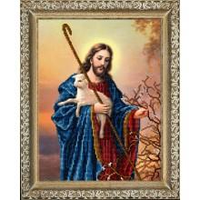 10318 Иисус с ягненком. Краса i Творчiсть. Наборы для вышивания ювелирным бисером.