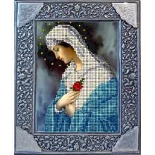 20918 Дева Мария с розой. Краса i Творчiсть. Наборы для вышивания ювелирным бисером.