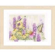 PN-0147541 Бабочка и эхинацея. LanArte. Наборы для вышивания крестиком.