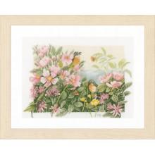PN-0157494 Птицы и розы. LanArte. Наборы для вышивания крестиком.