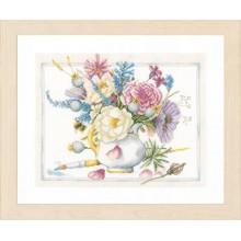 PN-0165375 Цветы в белом горшке. LanArte. Наборы для вышивания крестиком.