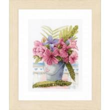 PN-0154327 Букет цветов в ведерке. LanArte. Наборы для вышивания крестиком.