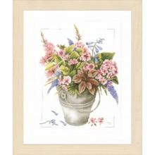 PN-0158325 Букет цветов в ведерке. LanArte. Наборы для вышивания крестиком.