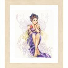 PN-0150005 Девушка - фиолетовая бабочка. LanArte. Наборы для вышивания крестиком.