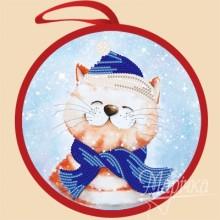 ИКБ-006 Елочная игрушка. Новогодний кот. Марічка. Схемы для вышивания бисером.