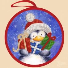 ИКБ-007 Елочная игрушка. Пингвин с подарками. Марічка. Схемы для вышивания бисером.