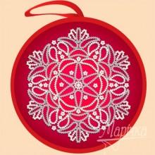 ИКБ-010 Елочная игрушка. Красный шар. Марічка. Схемы для вышивания бисером.