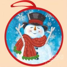 ИКБ-011 Елочная игрушка. Снеговик. Марічка. Схемы для вышивания бисером.