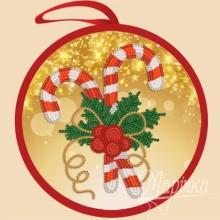 ИКБ-012 Елочная игрушка. Рождественская сладость. Марічка. Схемы для вышивания бисером.