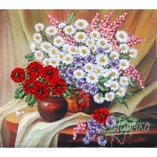 НЛ-3005 Полевые цветы. Марічка. Наборы для вышивания лентами.