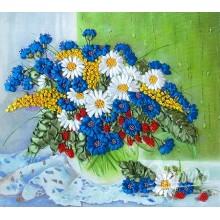НЛ-3014 Полевые цветы на окне. Марічка. Наборы для вышивания лентами.