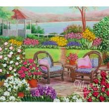 НЛ-3023 Цветущий сад. Марічка. Наборы для вышивания лентами.