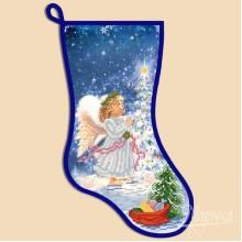 СН-2004 Новогодний сапожок ''Ангел''. Марічка. Схемы для вышивания бисером.