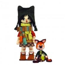 К1072 Девочка с лисенком. Новая Слобода. Наборы для шитья кукол.