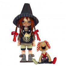 К1077 Девочка с собачкой. Новая Слобода. Наборы для шитья кукол.