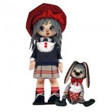 К1073 Девочка с зайкой. Новая Слобода. Наборы для шитья кукол.