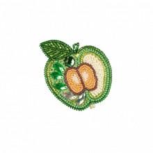 РВ2043 Зеленое яблоко. Новая Слобода. Наборы для вышивания бисером.
