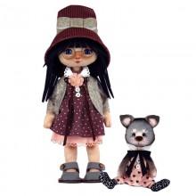 К1075 Девочка с котиком. Новая Слобода. Наборы для шитья кукол.