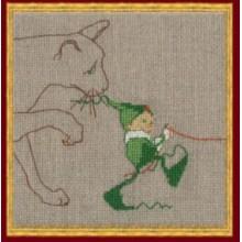 48-A0026KA Мик 6 Кошка. NIMUЁ. Наборы для вышивания крестиком.