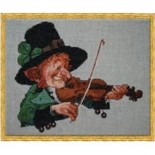 77K Зеленая скрипка. NIMUЁ. Наборы для вышивания крестиком.