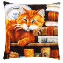 PN-0163873 Кот и книги. Vervaco. Наборы для вышивания крестиком.