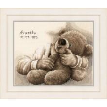 PN-0163748 Плюшевый медведь. Vervaco. Наборы для вышивания крестиком.