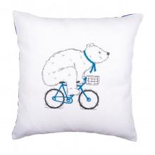 PN-0162238 Медведь на велосипеде. Vervaco. Наборы для вышивания гладью.