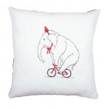 PN-0162239 Слон на велосипеде. Vervaco. Наборы для вышивания гладью.
