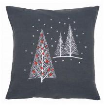 PN-0164820 Рождественские елки. Vervaco. Наборы для вышивания гладью.