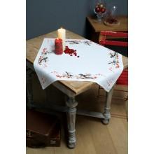 PN-0164896 Синички и красные ягоды. Vervaco. Наборы для вышивания крестиком.