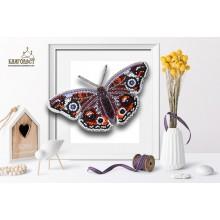 Б-003 3D Бабочка Прецис Лавиния. Blagovest. Наборы для вышивания бисером.