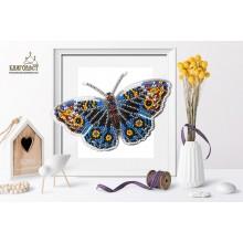 Б-005 3D Бабочка Юнония Орития. Blagovest. Наборы для вышивания бисером.