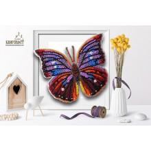Б-006 3D Бабочка Анеа Терантина. Blagovest. Наборы для вышивания бисером.