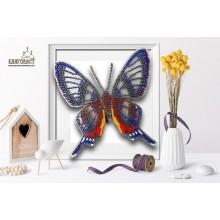 Б-007 3D Бабочка Форинеа Фаунус. Blagovest. Наборы для вышивания бисером.