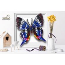 Б-008 3D Бабочка Rhetus Dysoni. Blagovest. Наборы для вышивания бисером.