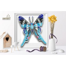 Б-009 3D Бабочка Rhetus Arcius. Blagovest. Наборы для вышивания бисером.