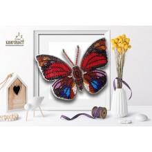 Б-010 3D Бабочка Agrias Claudina Lugens. Blagovest. Наборы для вышивания бисером.
