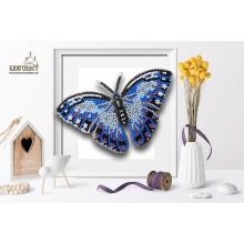 Б-011-2 3D Бабочка Морфо Пелеида. Blagovest. Наборы для вышивания бисером.