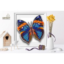 Б-013 3D Бабочка Каллима. Blagovest. Наборы для вышивания бисером.