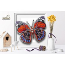 Б-016 3D Бабочка Agrias Claudina. Blagovest. Наборы для вышивания бисером.