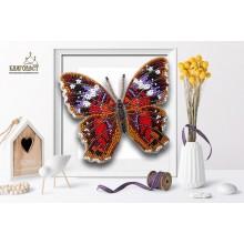 Б-017 3D Бабочка Anartia Amathea. Blagovest. Наборы для вышивания бисером.