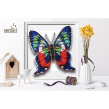 Б-018 3D Бабочка Ancyluris formosissima. Blagovest. Наборы для вышивания бисером.
