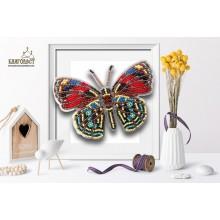Б-019 3D Бабочка Callicore Hesperis. Blagovest. Наборы для вышивания бисером.