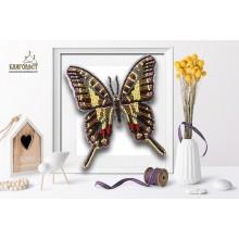 Б-022 3D Бабочка Protographium Philolaus. Blagovest. Наборы для вышивания бисером.